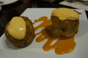 Cafe Blossom UWS, NYC - Black Eyed Pea cakes