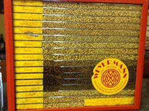 Roasted grains on display at Redhook brewery
