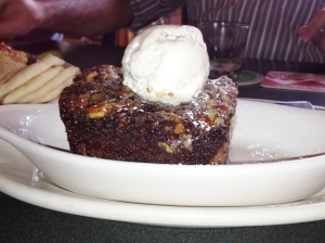 Bread pudding with vanilla icecream at Redhook Brewery