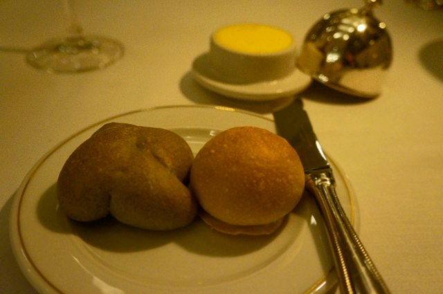 Bread (Basil on the left) served at Le Basilic (Mediterranean) restaurant in Cancun, Mexico