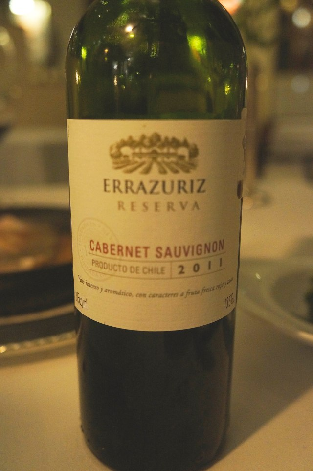 A Cabernet Sauvignon from   Chile served at Le Basilic (Mediterranean) restaurant in Cancun, Mexico