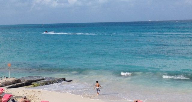 View of the beach from Isla Contoy, Cancun, Mexico