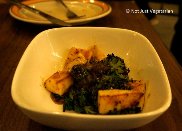 Grilled cuttlefish with kale and preserve lemon at Barraca NYC