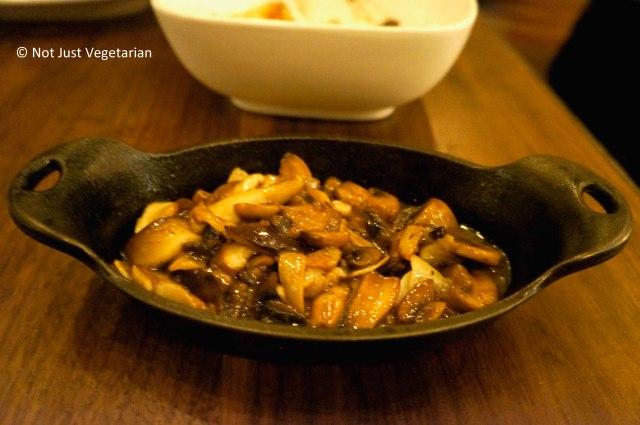 Mushrooms sauteed with garlic and paprika (?) at Barraca NYC