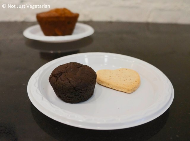 Vegan Miso brownie and Vegan, gluten-free genmai toasted brown rice shortbread cookie from Kyotofu, at Dean & Deluca NYC