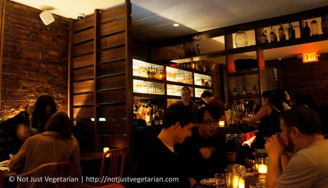 The Bar and Dining area in Fatty 'Cue in the West Village in NYC