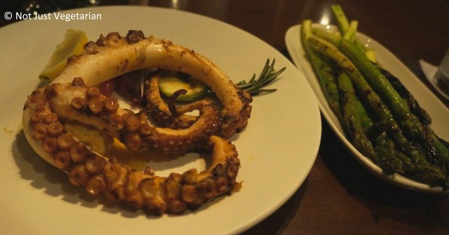 Chef's Special of Octopus in Coriander Butter at Fred's House Seafood Market & Grill in Cancun, Mexico