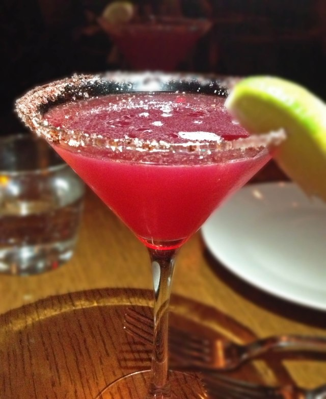 Poison Sumac Margarita (Martini - tequila, pomegranate juice, lemon, sumac)  at Ilili NYC