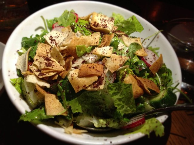 Fattoush salad at Ilili NYC