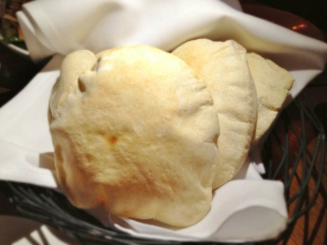 Freshly made pita bread at Ilili NYC