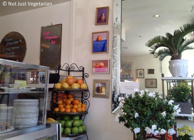 Inside Peacefood Cafe NYC