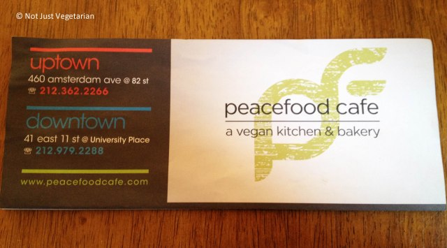 Peacefood Cafe Menu at Peacefood Cafe NYC