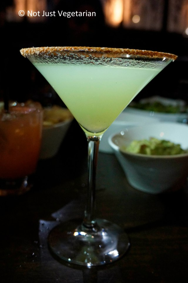 Cucumber Serrano Martini - a spicy mezcal cocktail served at Zengo NYC