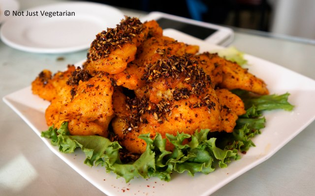 Crispy sliced (fried) fish at Lao Dong Bei in Flushing NY