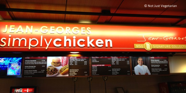 Simply Chicken Concession Stand at Madison Square Garden in NYC