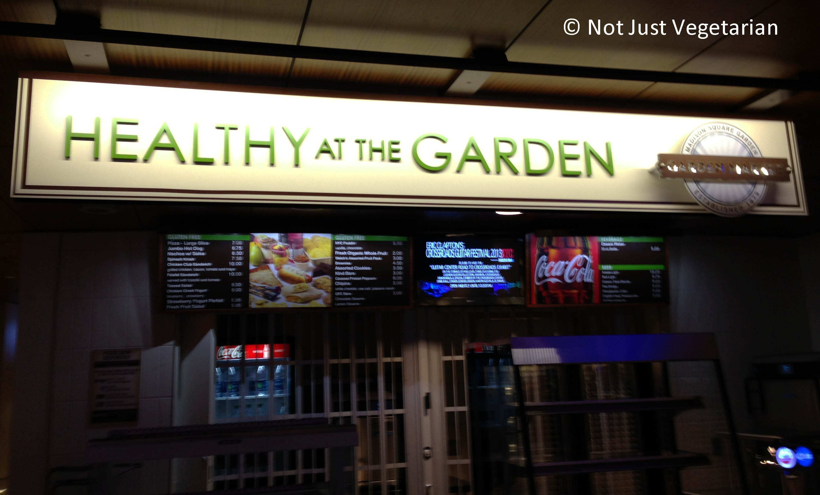 not too many vegetarian options at madison square garden not just vegetarian