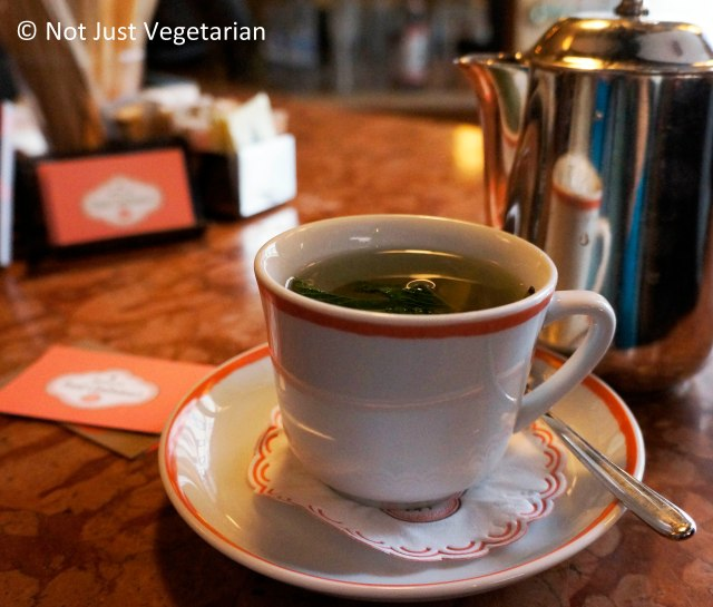 Fresh mint tea at Sant Amrboeus in the West Village NYC