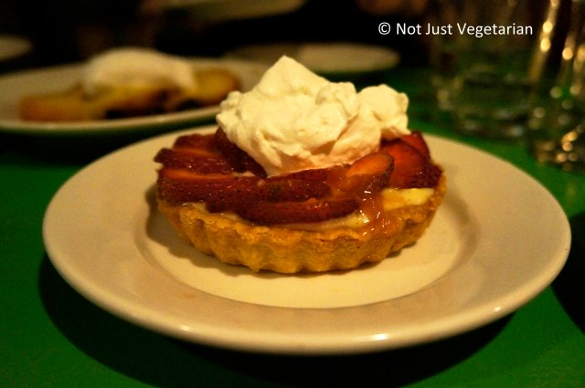 Strawberry tart at Table Verte NYC