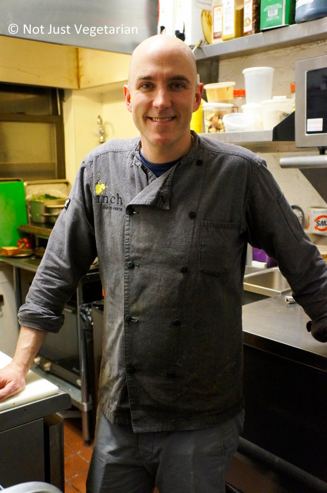 Executive Chef Ken Larsen in his kitchen at Table Verte NYC