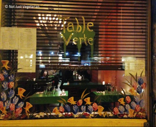 Table Verte NYC - the only French Vegetarian restaurant in NYC
