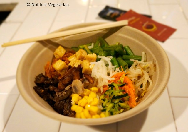 Vegan Bibimbap at Make-your-own Bibimbap by Bibimbap Backpackers at Take 31 in NYC