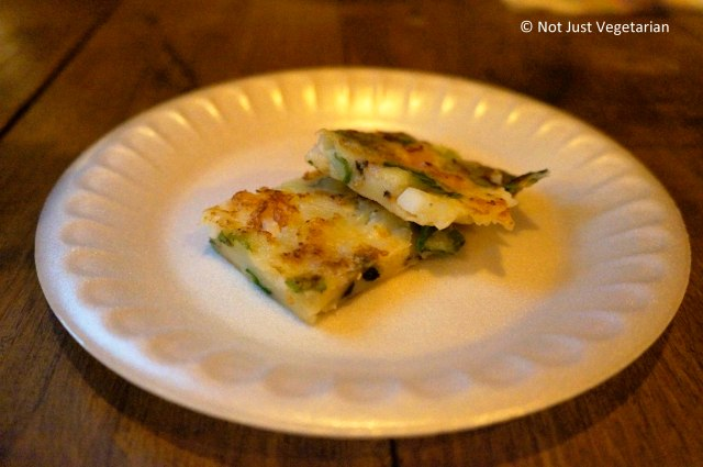 Pajeon (scallion and seafood pancake) at Take 31 in NYC