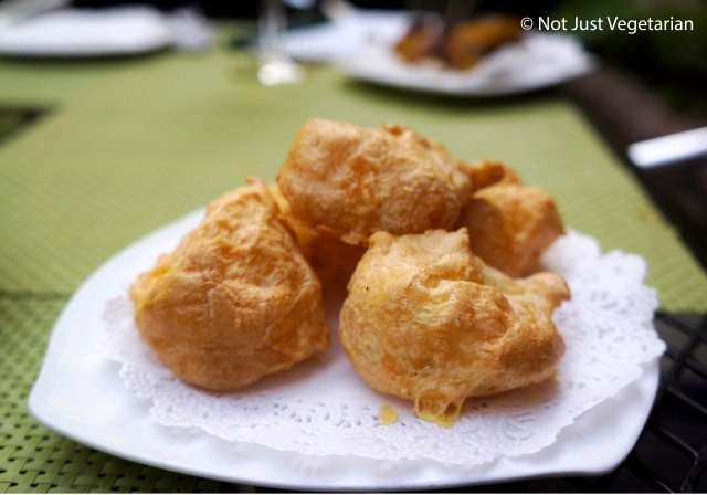 Gougere (Cheese puffs) at Jeanne and Gaston NYC