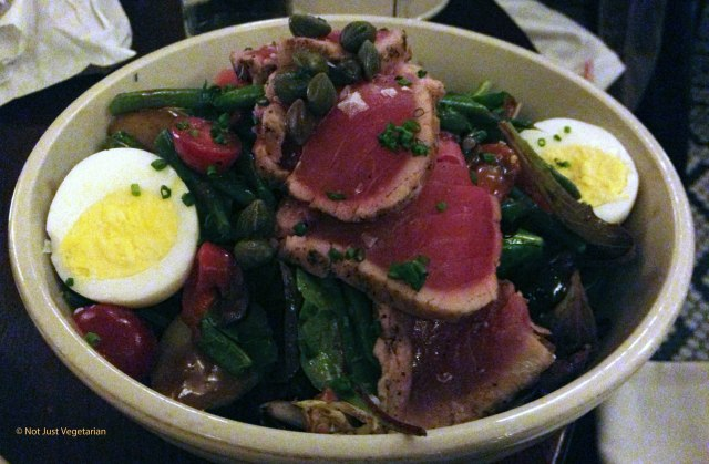 Tuna salad at The Smith Restaurant and Bar near the Lincoln Center in NYC