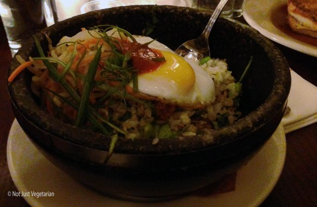 Vegetarian Bibimbap at The Smith Restaurant and Bar near the Lincoln Center in NYC