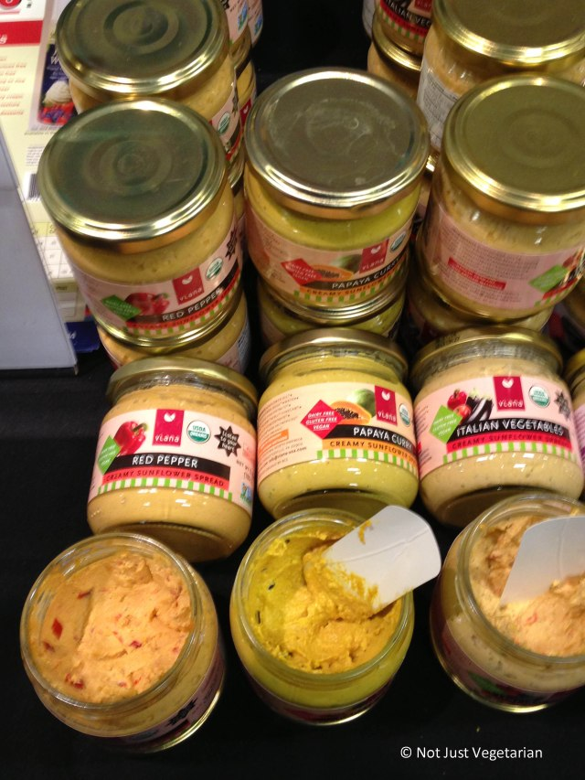 Vegan spreads by Soyatoo at The Seed 2013 in NYC