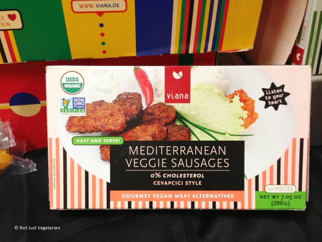 Mediterranean Veggie (vegan) sausages by Viana at The Seed 2013 in NYC