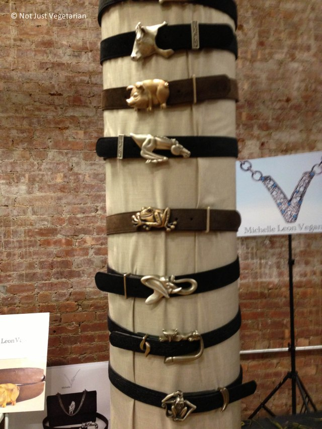 Vegan belts(made from recycled fabric) by Michelle Leon Vegan at The Seed 2013 in NYC