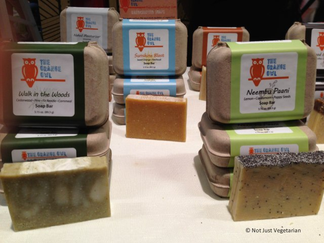 Vegan soaps by The Orange Owl at The Seed 2013 in NYC