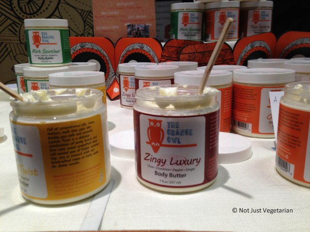 Handmade vegan body creams (from mango butter) by The Orange Owl at The Seed 2013 in NYC