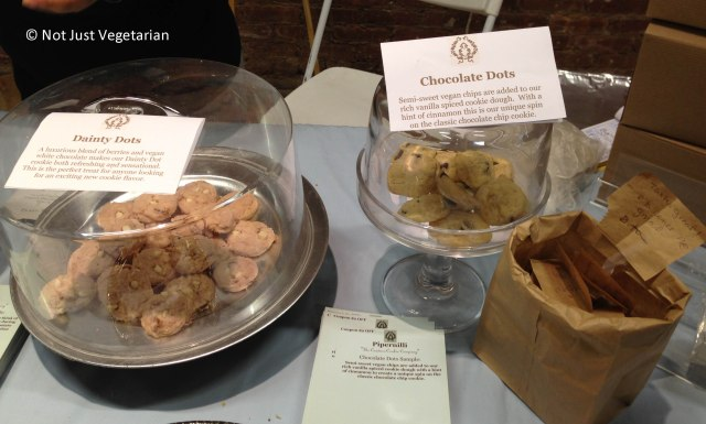 Vegan cookies from Pipernilli The Couture Cookie company at The Seed 2013 in NYC