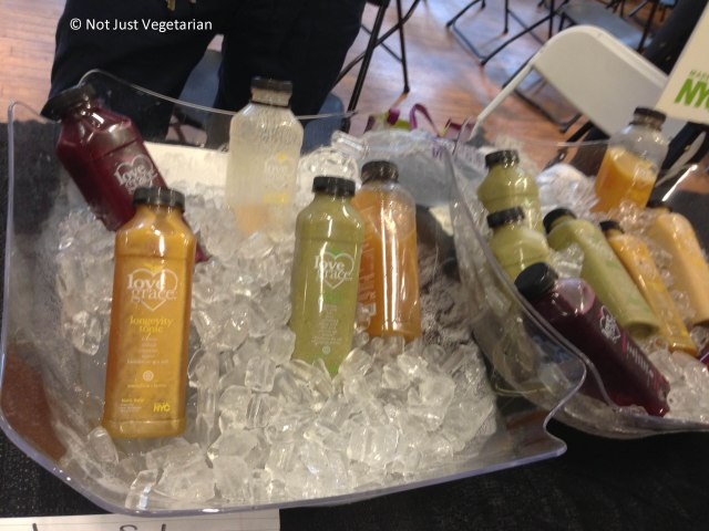 Juices and smoothies from Love Grace Foods at The Seed 2013 in NYC