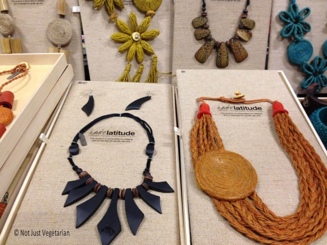 More jewelry (jute and bamboo) by Haute Latitude at the Seed 2013 in NYC