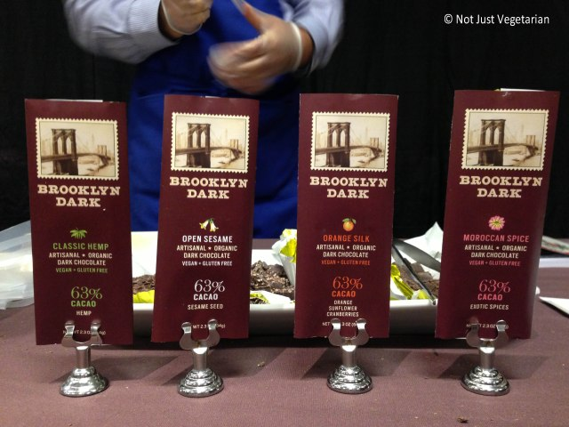 Vegan glutenfree chocolate by Brooklyn Dark at The Seed 2013 in NYC