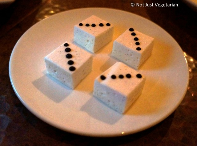 Passion fruit marshmallows with dark chocolate at Greenwich Project NYC