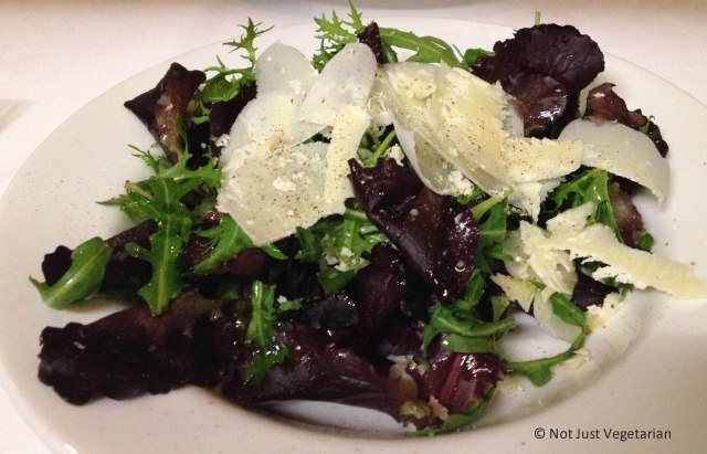 Rocket (arugula) and Parmesan salad at Stuzzico in London