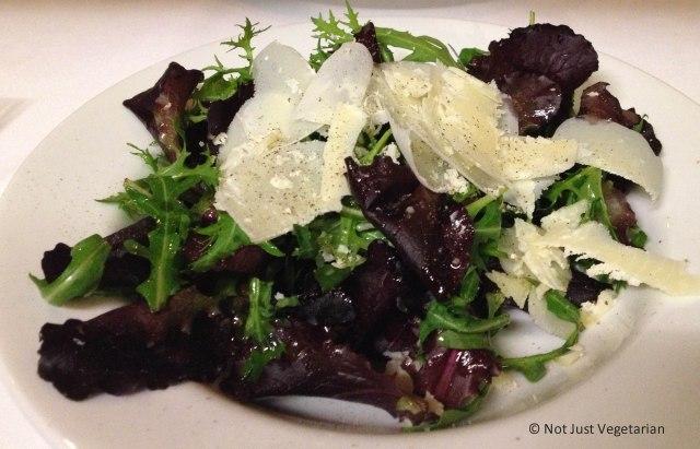 Rocket (arugula) and Parmesan salad at Stuzzico in London