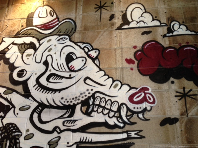 Mural by NYC local artists Sheryo and The Yok at Tres Carnes NYC - photo courtesy Tres Carnes