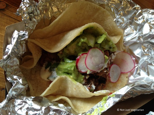 Brisket tacos at Tres Carnes NYC