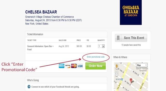 Chelsea Bazaar NJV Discount Code - final 1