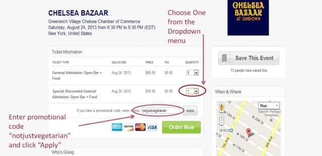 Chelsea Bazaar NJV Discount Code - final 2