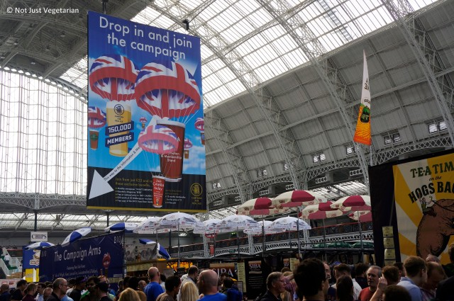 At the Great British Beer Festival (GBBF) 2013 in London