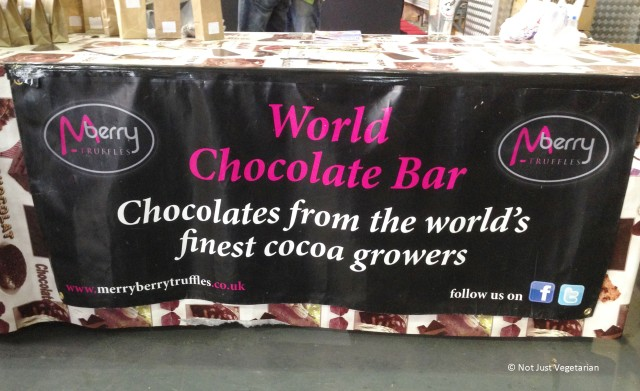 Flavoured Chocolates for sampling and sale by Merry Berry Truffles at the Great British Beer Festival (GBBF) 2013 in London