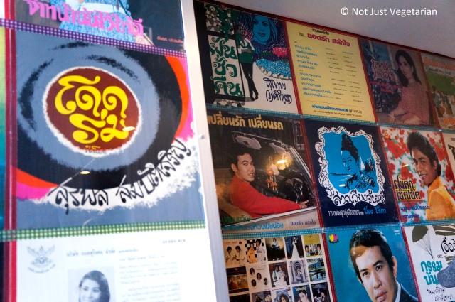 Wall art in Pok Pok Phat Thai in NYC