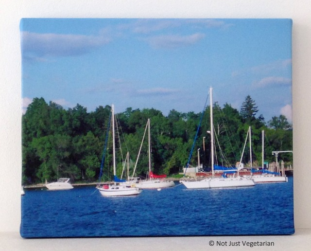 "8""x 10"" canvas print of Lake Champlain"