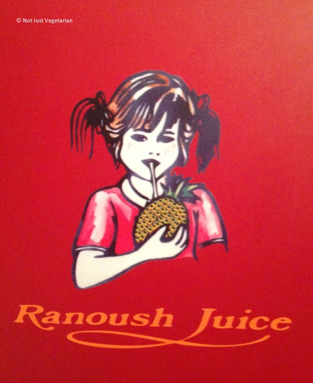 Menu at Ranoush Juice - High Street Kensington in London
